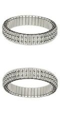 10 Stainless Steel CHA-CHA Expansion Bracelets double (2-row) with loops