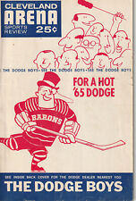 1965-66 Cleveland Barons Program  11/19 vs Springfield Indians