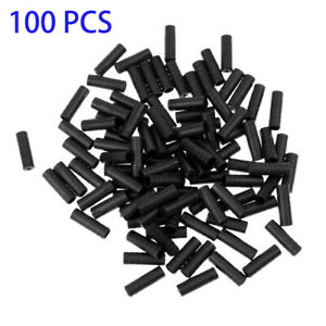 100Pcs 4mm Bike Bicycle Cycling Black Brake Cable End Caps Lined Ferrules Crimp