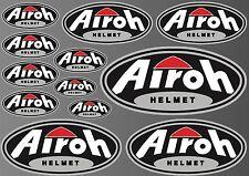 12x AIROH HELMET STICKER SHEET DECALS STICKERS VINYL SPONSOR KIT BIKE MOTORCYCLE
