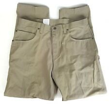 Wrangler Mens 38X32 Work Gear Utility Brown Denim Jeans Relaxed Fit Cotton NWT