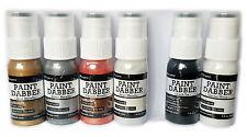 6 Ranger Acrylic Paint Dabbers - All 4 Metallics + Black + White - RAD43768