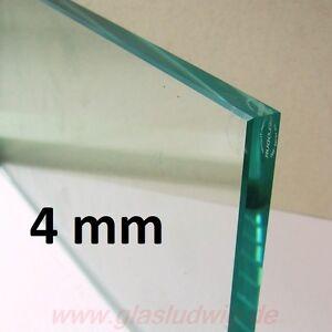 ESG Glasplatte 4 mm Kanten poliert nach WUNSCH-Maß - ABHOLPREIS ! (60,48€/m²)