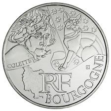 10 euros des régions personnages en argent Bourgogne 2012
