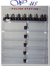 Nail Polish Wall Rack Acrylic Hold up 96 bottles ( With header design )