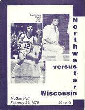 Wisconsin at Northwestern February 24 1979 NCAA Basketball Program