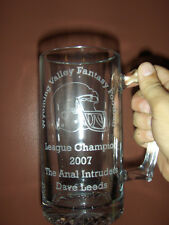 Your Championship Fantasy Football Trophy 25 oz. Glass Mug Engraved for FRE
