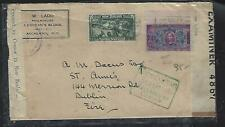 NEW ZEALAND COVER (P0112B) CENT 1/2D+1 1/2D CENSOR NZ AND IRELAND COVER TO IRELA