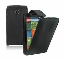 Ultra Slim BLACK Leather Case Cover for Motorola Moto X / XT1097 (2014 2nd Gen)