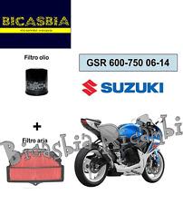 7394 - SET FILTRO DE AIRE + ACEITE SUZUKI 650 GSR 2006 - 2014 - BICASBIA