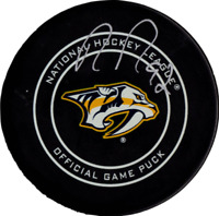 Ryan Johansen autographed signed authentic puck NHL Nashville Predators PSA COA