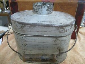 Antique tin Miners Lunch Box Pail from Colorado