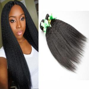 Ykai Kinky Straight Hair 3Bundles/150g Hair Wave Virgin 7A Human Hair Extensions