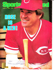 1984 Sports Illustrated Pete Rose Cincinnati Reds  Rose is a red