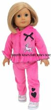 Poodles in Paris Tracksuit 18 in Doll Clothes Fits American Girl