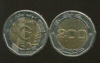 "ALGERIA 200 DINARS ""50 Years Independence"" 2012 COIN UNC"