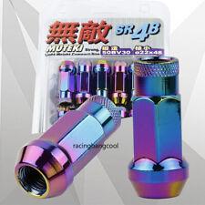 JDM 20PCS MUTEKI SR48 Neo Chrome M12*1.25 Racing Extended Wheels Tuner Lug Nuts