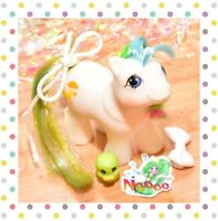 ❤️My Little Pony MLP G1 Vtg BABY First Tooth Quackers Duck White Rainbow Hair❤️