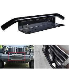 23'' Black Car OffRoad Bull Bar LED Light License Plate Mounting Bracket Holder