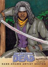 Walking Dead Comic Series Two Sketch Card by Mark Marvida of Michonne