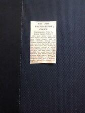 M3-3 Ephemera 1949 Walthamstow Article Police V Arbour Square Football Match