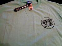 NWT Santa Cruz Original Skateboard SS T-shirt Mint Green Men's L Opus Dot