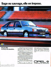PUBLICITE ADVERTISING 085  1985  OPEL  ASCONA GT