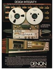 1982 Denon DH-510 Reel-to-reel Tape Deck DR-57 Stereo Hi-Fi Vintage Ad