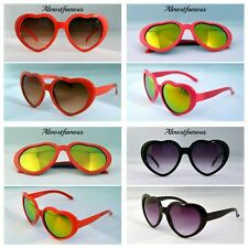 Girls Children Kids Holiday Party Heart Shaped Love Sunglasses Shades UV 400 UK