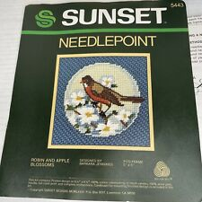 Sunset Jiffy Needlepoint New Dance of the Dolphins   #17046   \u00a91997  Unopened NIP  Frame Size 5 x 5  Gift for Needlepoint Lover.