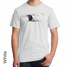 Calvin & Hobbes Comic Strip Graphic T-Shirt Funny Classic Old School NWT 84