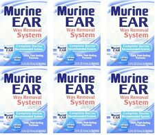 6 Pack - Murine Ear Wax Removal System Kit, Doctor Recommended .05 Fl Oz Each