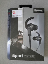 Monster iSport Victory Headphones (Black) with ControlTalk ~ New & Seal Free USA
