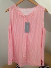 Country Road 💛 Trenery New Shirt RRP $99.95 YD Swing Shell Pop Pink Size L