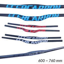 Manillar de Carbono 3K Plano Doble Altura Bicicleta de Montaña MTB BTT 600-760mm