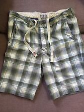 Ruehl No.925 By Abercrombie & Fitch Vintage Button-Fly Plaid Shorts Men's 34