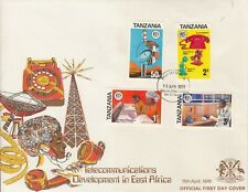1976 Tanzania Telecommunications  First Day Cover