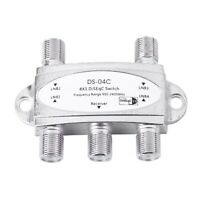 DISEQC SWITCH - SWITCH 4 X 1 HIGH PERFORMANCE FOR UP TO 4 ANTENNAS. SAT U9T7