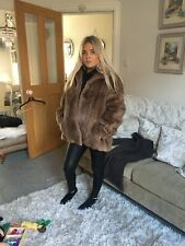 Beautiful Vintage Real Fur Mink /musquash Size 10/12. Made In England