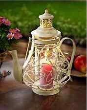 Laterne Metallkorpus in Form einer Kaffeekanne Mit Glaszylinder Antik - Patina