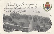 Queen Square ST JOHN New Brunswick 1906 McCoy Patriotic NB Shield Crest Postcard