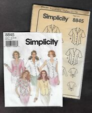 Vintage Simplicity Sewing Pattern 8845 Blouses with Variations Size 12-16 Uncut