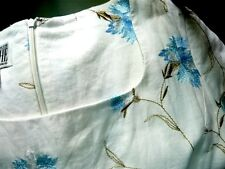 Women's Dress Size 8 Gorgeous Vintage Embroidered Shift