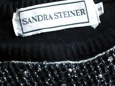 SANDRA STEINER BlackEmbellishedAcrylicSweater SizeS