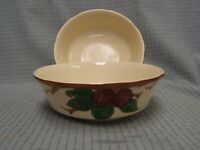 """Lot of 2 Franciscan Apple Pattern 8 3/4"""" Round Vegetable Bowls USA VGC"""