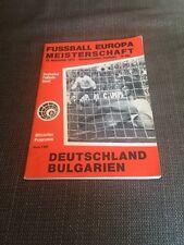 VERY RARE Euro 76 Qualifier  West Germany v Bulgaria  19.11.1975