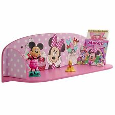 MINNIE MOUSE BOOKTIME BOOK SHELF NEW BEDROOM FURNITURE DISNEY