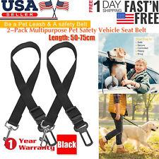 New listing 2X Cat Dog Pet Safety Seat Belt for Car Seat Belt Adjustable Harness Lead Us