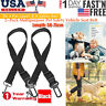 2 Pet Adjustable Seat Belt Dog Safety Clip Harness Lead Car Auto Travel Puppy US