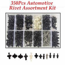 350 Pcs 12 Sizes Car Push Pin Rivet Trim Clip Panel Interior Moulding Assortment